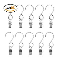 Amagle 20 PCS Party Light Hooks Hanger Clips with Hooks for