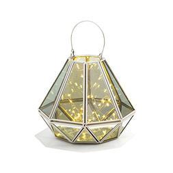 Decorative Geometric Terrarium Lantern - Diamond Shape | War