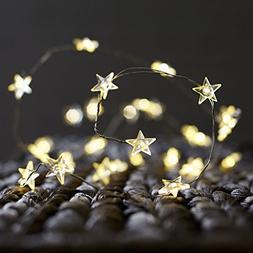 BOHON Decorative Lights, Star String Lights 40 LEDs 10 ft Fa