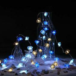 BrizLabs Decorative String Lights, Sea Glass Festive Beac Co