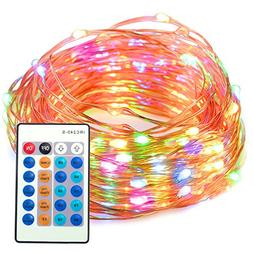 TaoTronics Dimmable Waterproof 100 LED String Lights with Re