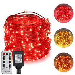 ErChen Dual-Color LED String Lights, 66 FT 200 LEDs Plug in