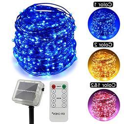 ErChen Dual-Color Solar Powered LED String Lights, 165FT 500