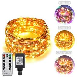 ErChen Dual-Color LED String Lights, 100 FT 300 Leds Plug in