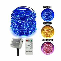 ErChen Dual-Color Solar Powered LED String Lights, 165FT 500