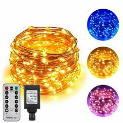 Dual-Color String Lights, Dimmable Color Changing, 300LEDs B