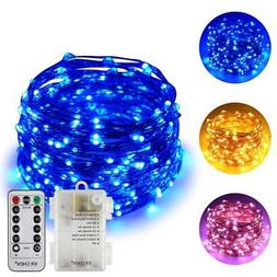 ErChen Dual-Color Battery Operated Led String Lights , 66 FT