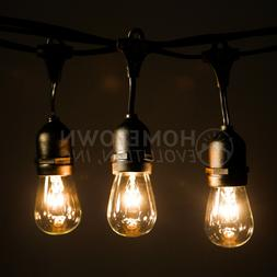 A15 and S14 Incandescent Bulbs E26 Commercial String Lights with Suspender