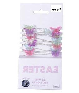 Easter Spring Summer  25ct Led Multi Butterfly String Fairy