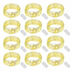 Ehome Fairy String Lights, 12 Pack Fairy Lights Battery Oper