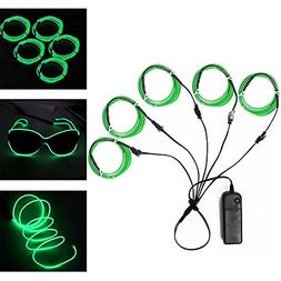 Ourbest El Wire Green Neon Light Wire Battery Pack 3ft Elect