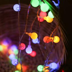 Electric EU Plug 10M 100LED Berry Ball Xmas Bulb Fairy Strin