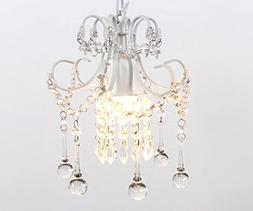 Elegant Vintage Crystal Chandelier Lighting Mini Rustic Ceil