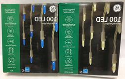 GE Energy Smart 100 LED icicle Constant On Lights Holiday Ch