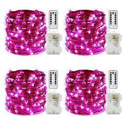 ER CHEN 4 Pack 100 Led String Lights, Battery Operated Water