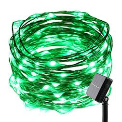 ER CHEN Solar Powered 33ft Copper Wire string light,100led F