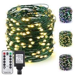 ER CHEN Color Changing LED String Lights Plug in with Remote