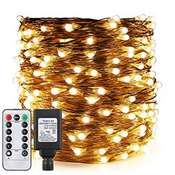 ER CHEN Dimmable LED String Lights Plug in with Remote, 175F
