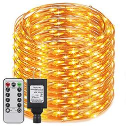 ER CHEN Dimmable LED String Lights Plug in with Remote, 338f