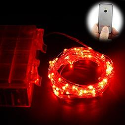 ER CHEN Remote Battery Operated Led String Lights 33ft 100 L