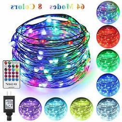 ErChen 64 Modes 7 Colors + Multicolor LED String Lights,