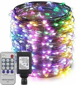 ErChen Adapter Powered Led Starry String Lights, 165FT 50M 5