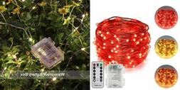 Erchen Battery Powered Dual Color Led String Light Warm WHIT
