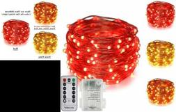 Erchen Dual Color Battery Operated Led String Ligh Warm WHIT