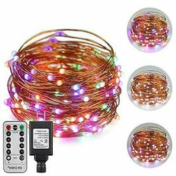 ErChen Dual-Color LED String Lights, 33 FT 100