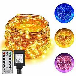 ErChen Dual-Color LED String Lights, 66 FT 200 LEDs Plug in