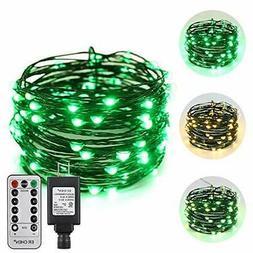ErChen Dual-Color LED String Lights, Green