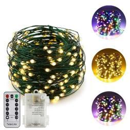 ErChen Dual-Color LED String Lights (Warm 66FT 200LEDs, Warm