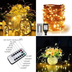 Erchen Remote Control Adapter Powered Led String Lights 100F