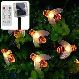ErChen Remote Control Solar Powered String Lights, 30 Cute H