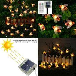 Erchen Remote Control Solar Powered String Lights 30 Cute Ho