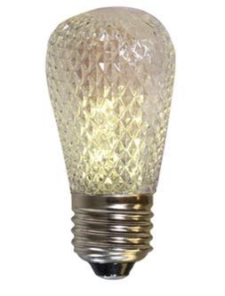 BOX OF 25 FACETED PLASTIC 1.5 WATT S14-SHAPED LED LAMP PURE