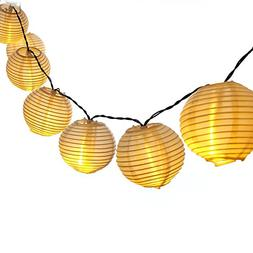 LUCKLED Outdoor Fairy Lantern Solar String Lights, 19.7ft 30