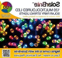 Solar Brite Solar Fairy Lights 120 Super Bright Multi Color