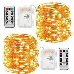 Fairy Lights, Sanniu 2 Pack Fairy String Lights Battery Oper