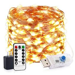 innotree LED String Lights, 33ft 100 LED USB Plug in Fairy L