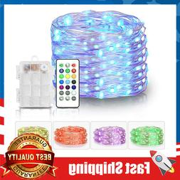 Fairy Lights Battery Operated Outdoor String Lights Remote C