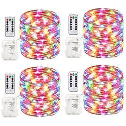 GDEALER 4 Pack 16.4 Feet 50 Led Fairy Lights Battery Operate