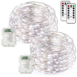 buways Fairy Lights, 2-Pack Battery Operated Waterproof Cool