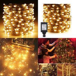 Fairy Lights Plug In 164Ft/50M 500 LED SILVER Coated Copper