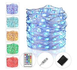 Fairy Lights Plug in String Lights for Bedroom Color Changin