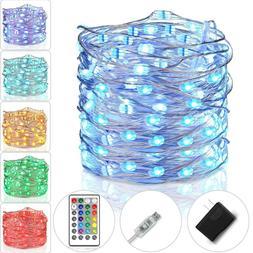 Tesyker Fairy Lights Plug In String Lights for Bedroom Color