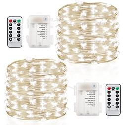 GDEALER 2 Pack 20 Feet 60 Led Fairy Lights Battery Operated
