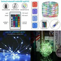 Fairy Lights USB Plug In Color Changing String W Remote Cont