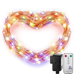 Fairy Lights, DecorNova 120 LED 39.4 Feet Copper Wire Firefl