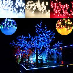 200PCS Colorful LED Solar String Lights Multi Christmas Tree